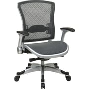 Office Star Space Seating® Mesh SpaceGrid Mid Back Black Executive Chair, Platinum