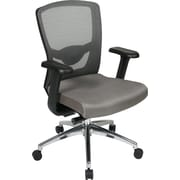 Office Star Proline II Fabric Executive Office Chair, Adjustable Arms, Gray (511342AL)