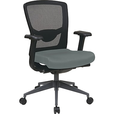Office Star Pro-Line II High-Back Mesh Executive Chair, Adjustable Arms, Gray