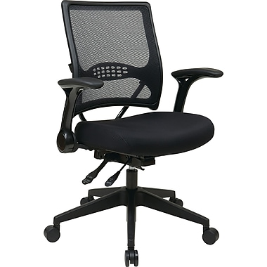 Office Star Space Seating® Fabric Mid Back Multi Function Managers Chair, Black