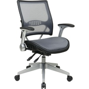 Office Star 67-66N69R5 Space Seating Mesh Managers Chair with Adjustable Arms, Gray