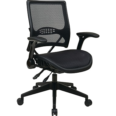 Office Star Mesh Managers Office Chair, Adjustable Arms, Black (67-77N9G5)