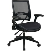 Office Star Mid-Back Mesh Manager's Chair, Adjustable Arm, Black