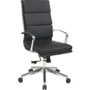 Office Star OSP Designs Leather High Back Executive Chair, Black