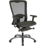 Office Star Pro-Line II™ ProGrid® High Back Managers Chair, Black/Titanium Finish