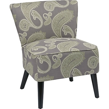 Office Star Ave Six® Fabric/Wood Mid Back Apollo Chair, Sweden Amethyst