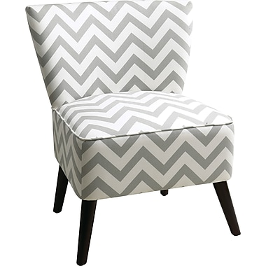 Office Star Ave Six® Fabric/Wood Mid Back Apollo Chair, Zig Zag Gray
