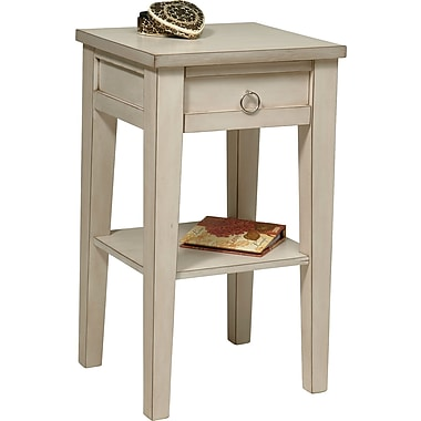Office Star Ave Six® 29in. x 17in. x 15 1/2in. Wood/MDF Banyan Phone Table, Rustic Cream