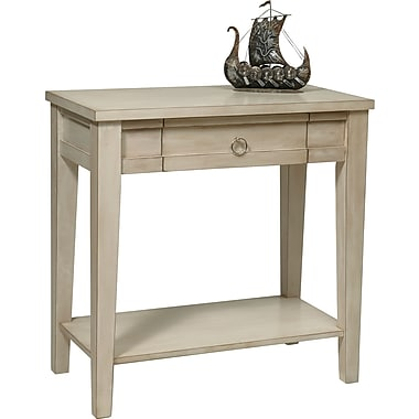 Office Star Ave Six® 30in. x 30in. x 15 3/4in. Wood/MDF Banyan Foyer Table, Rustic Cream