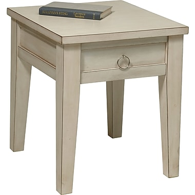 Office Star Ave Six® 20in. x 17in. x 19in. Wood/MDF Banyan End Table, Rustic Cream
