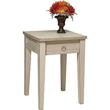 Office Star Ave Six® 27in. x 19 1/2in. x 19 1/2in. Wood/MDF Accent Table, Rustic Cream