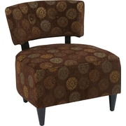 Office Star Ave Six® Fabric Boulevard Chair, Blossom Chocolate