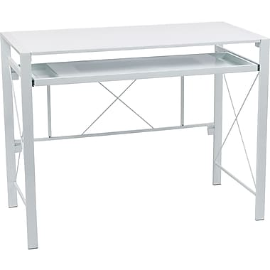 Office Star OSP Designs Engineered Wood Creston Desk, White