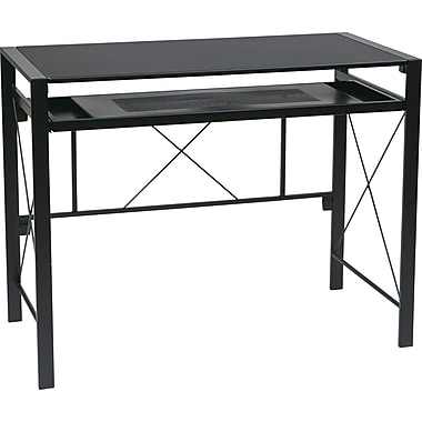 Office Star Creston Standard Computer Desk, Black (CRS25-3)