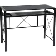Office Star OSP Designs Engineered Wood Creston Desk, Black