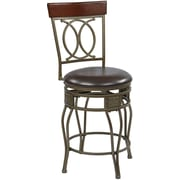 "Office Star OSP Designs 24"" Cosmo Swivel Bar Stool, Espresso (CSM2524-ES)"