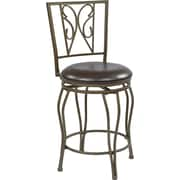 "Office Star OSP Designs 24"" Cosmo Swivel Bar Stool, Espresso (CSM2724-ES)"