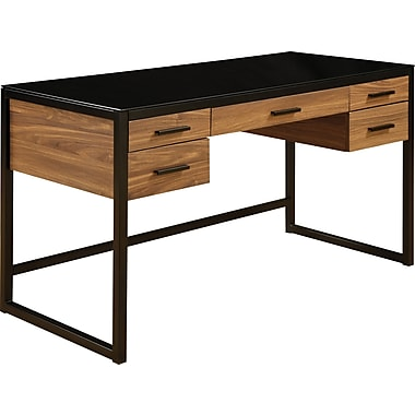 Office Star OSP Designs Engineered Wood Eldridge Computer Desk, Black