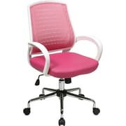 Office Star OSP Designs Mid Back Rio Office Chair, Pink