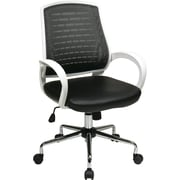 Office Star OSP Designs Mid Back Rio Office Chair, Black
