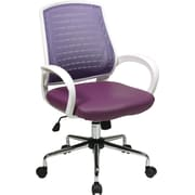 Office Star OSP Designs Mid Back Rio Office Chair, Purple