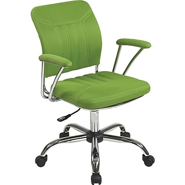 Office Star OSP Designs Gemini Mesh Mid Back Office Chair, Green