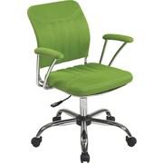 Office Star OSP Designs Gemini Mesh Mid Back Office Chair, Green