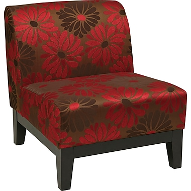 Office Star Ave Six® Fabric Glen Chair, Groovy Red