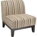 Office Star Ave Six® Fabric Glen Chair, Mocha Stripe