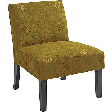 Office Star Ave Six® Fabric Laguna Chair, Blossom Green
