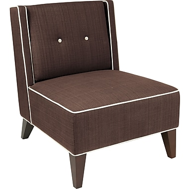 Office Star Ave Six® Fabric Marina Chair, Chocolate