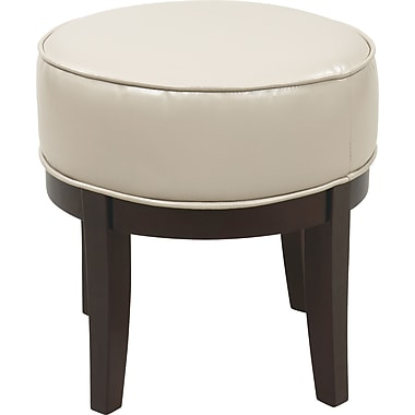 Office Star OSP Designs Faux Leather Metro Foot Stool, Cream