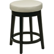 Office Star OSP Designs 24 Faux Leather Metro Round Bar Stool, Cream
