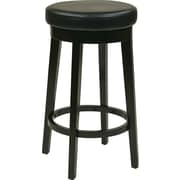 Office Star OSP Designs 30 Faux Leather Metro Round Bar Stool, Espresso