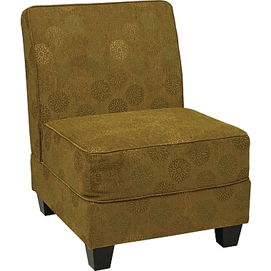 Office Star Ave Six® Eco Leather Milan Accent Chair, Blossom Green