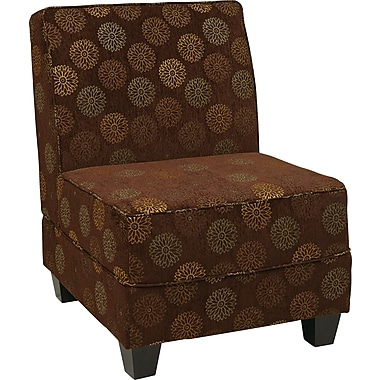 Office Star Ave Six® Eco Leather Milan Accent Chair, Blossom Chocolate