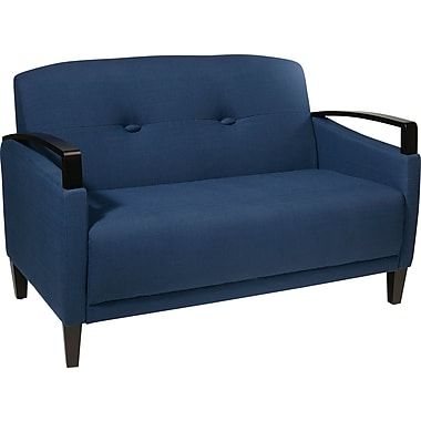 Office Star Ave Six Wood Main Street Loveseat, Indigo (MST52-W17 )