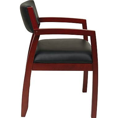 Office Star OSP Designs Eco Leather Guest Chairs With Upholstered Back