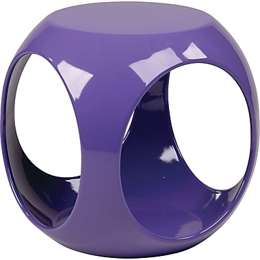Office Star Ave Six® Resin Slick Cube, Purple