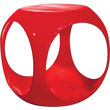 Office Star Ave Six® Resin Slick Cube, Red