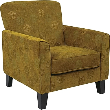 Office Star Ave Six® Fabric Sierra Chair, Blossom Green