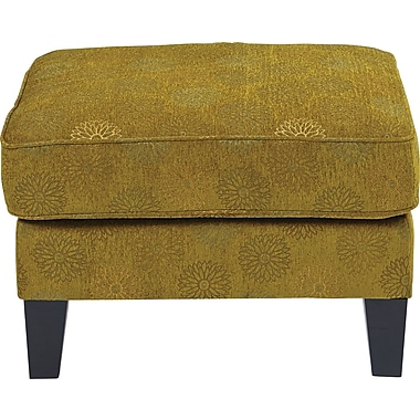 Office Star Ave Six® Fabric Sierra Ottoman, Blossom Green