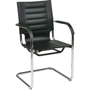 Office Star Ave Six® Vinyl Trinidad Tool-Less Assembly Guest Chair, Black