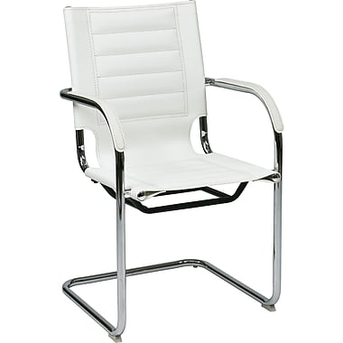 Office Star Ave Six Trinidad Metal Guest Chair, White (TND945A-WH)