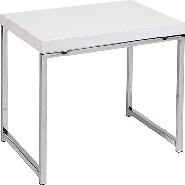 Office Star Ave Six® 18 1/2in. x 22in. x 15 3/4in. Wood/Veneer Wall Street End Table, White