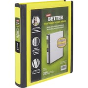 1 Staples® Better® 5-1/2 x 8-1/2 Mini View Binders with D-Rings, Yellow