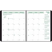 2014 Brownline EcoLogix Recycled Monthly Planner, 14 months (Dec-Jan), Twin-Wire, Soft Black Cover, 11 x 8-1/2
