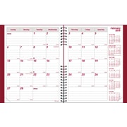 2014 Brownline CoilPro Monthly Planner, 14 months (Dec-Jan), Hard Red Cover, 11 x 8-1/2
