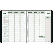 2014 BluelineDuraGlobe Weekly Planner, Sugarcane Based Paper, Twin-Wire Binding, Soft Black Cover, 11 x 8-1/2