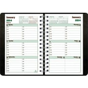2014 Blueline DuraGlobe Weekly Planner, Sugarcane Based Paper, Twin-Wire Binding, Soft Black Cover, 8 x 5